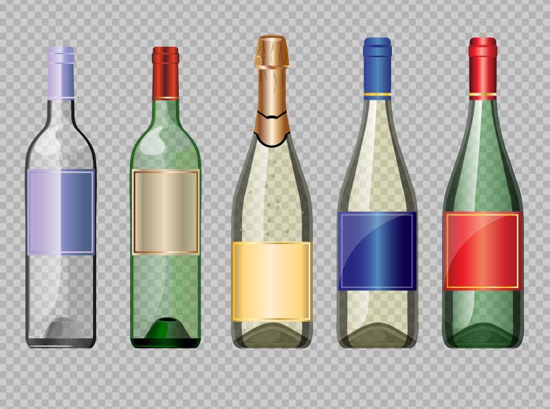酒瓶设计矢量