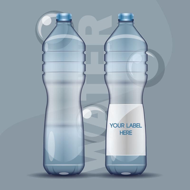 矿泉水瓶设计矢量