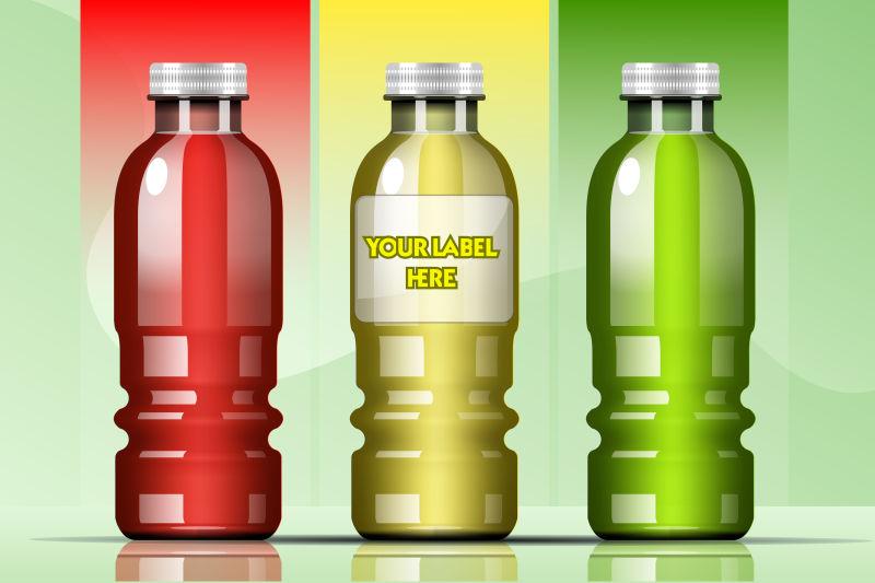 果汁瓶设计矢量