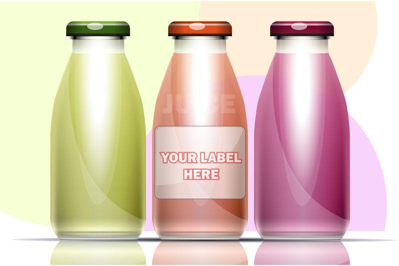 矢量果汁瓶