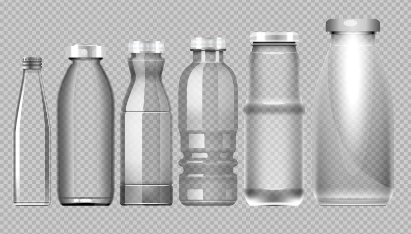 透明玻璃瓶矢量