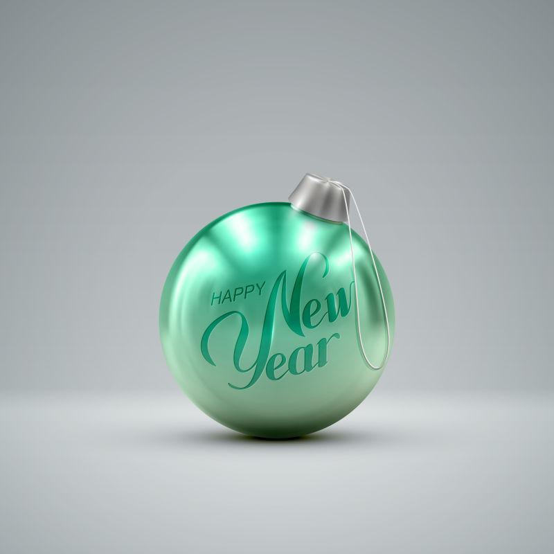 绿色圣诞球