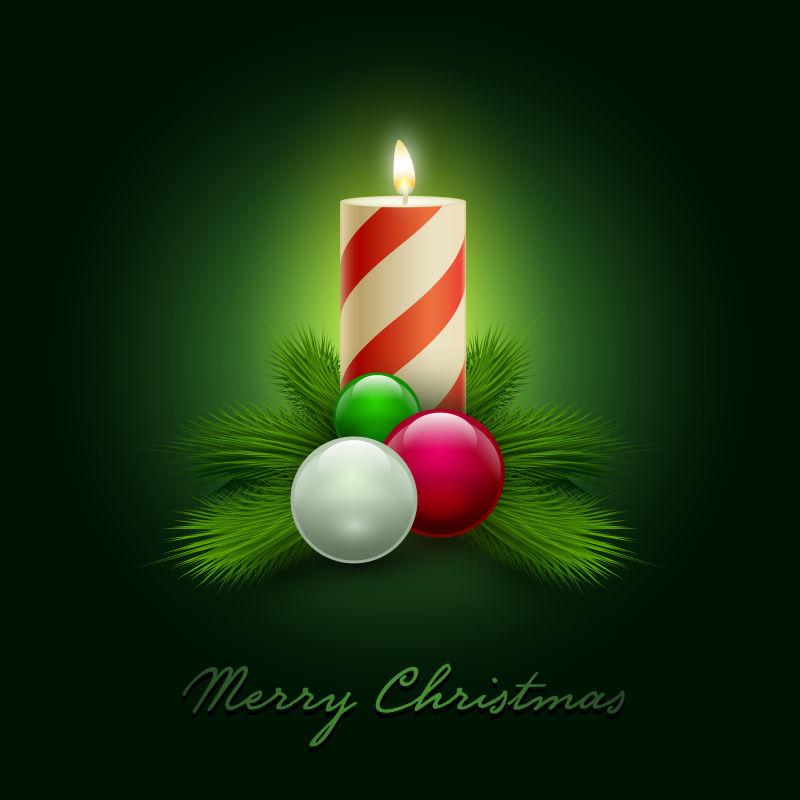 矢量圣诞蜡烛背景