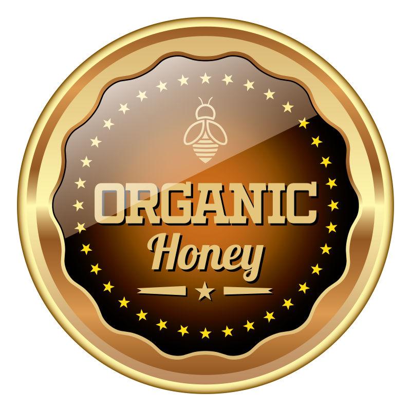 有机蜂蜜徽标矢量