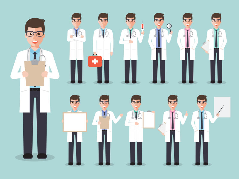 男医生矢量医疗团队