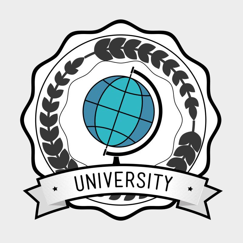 全球化矢量学习教育标志设计图