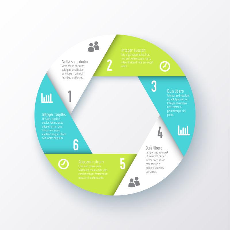 矢量的圆形拼接图案信息图表