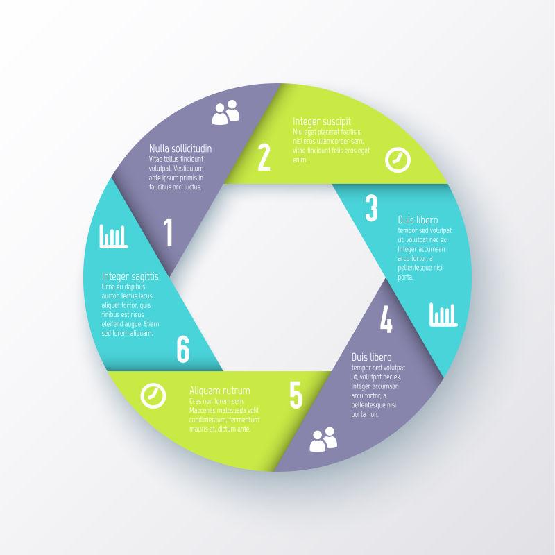 创意圆形信息图表矢量设计