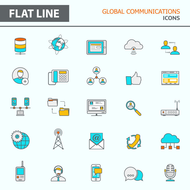 现代简单网络路由器线条
