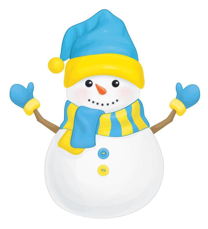 矢量乐趣雪人