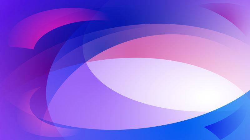 矢量蓝色和紫色的曲线背景
