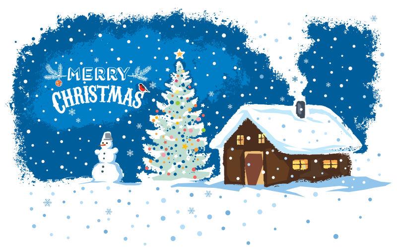 精致的圣诞节卡片矢量