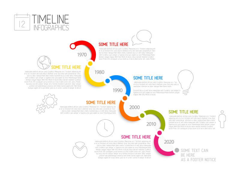 对角线时间轴信息图表矢量设计