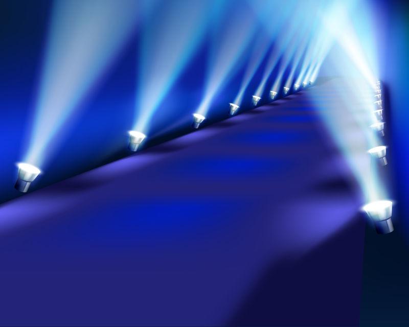 现代化的灯光舞台矢量设计