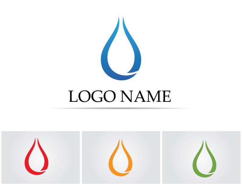 矢量的创意水滴标志设计