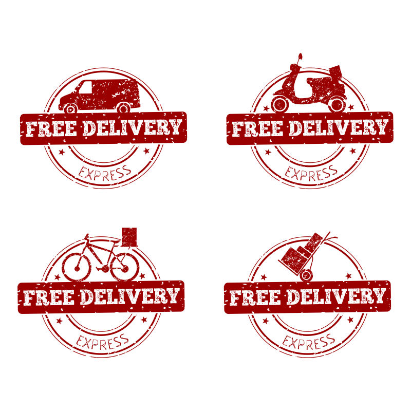 免费送货矢量标签
