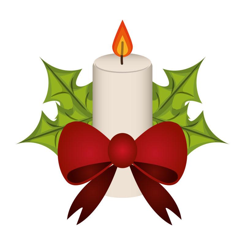 创意圣诞装饰设计矢量插图