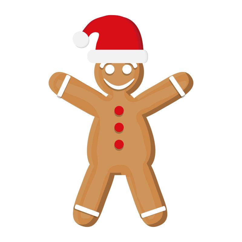 创意圣诞饼干装饰设计矢量插图