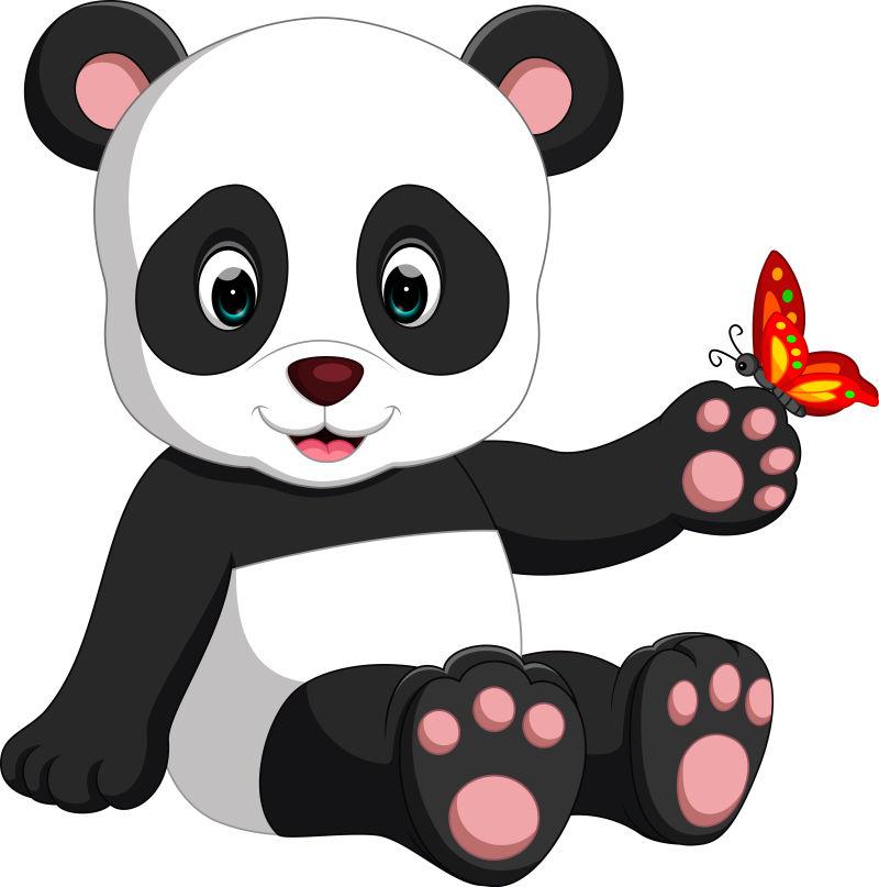 矢量熊猫宝宝卡通