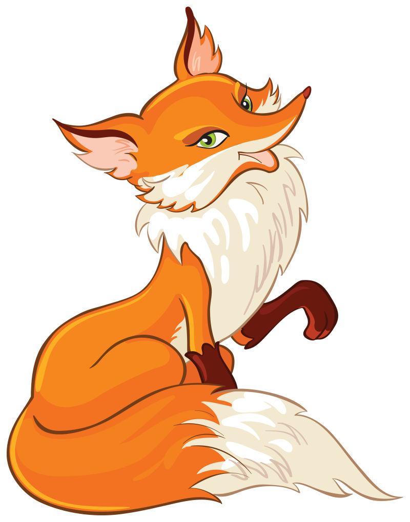 矢量可爱的狐狸插图