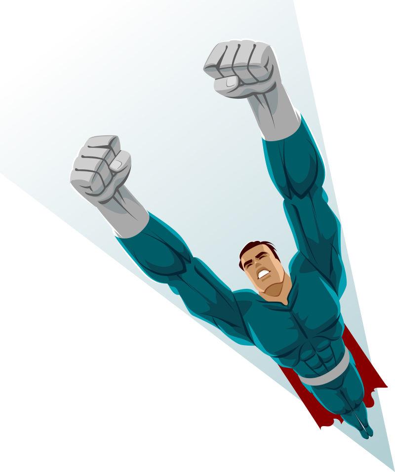 创意矢量卡通超级英雄插图