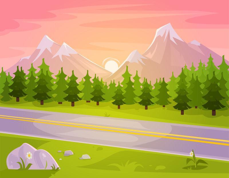 山地马路景观