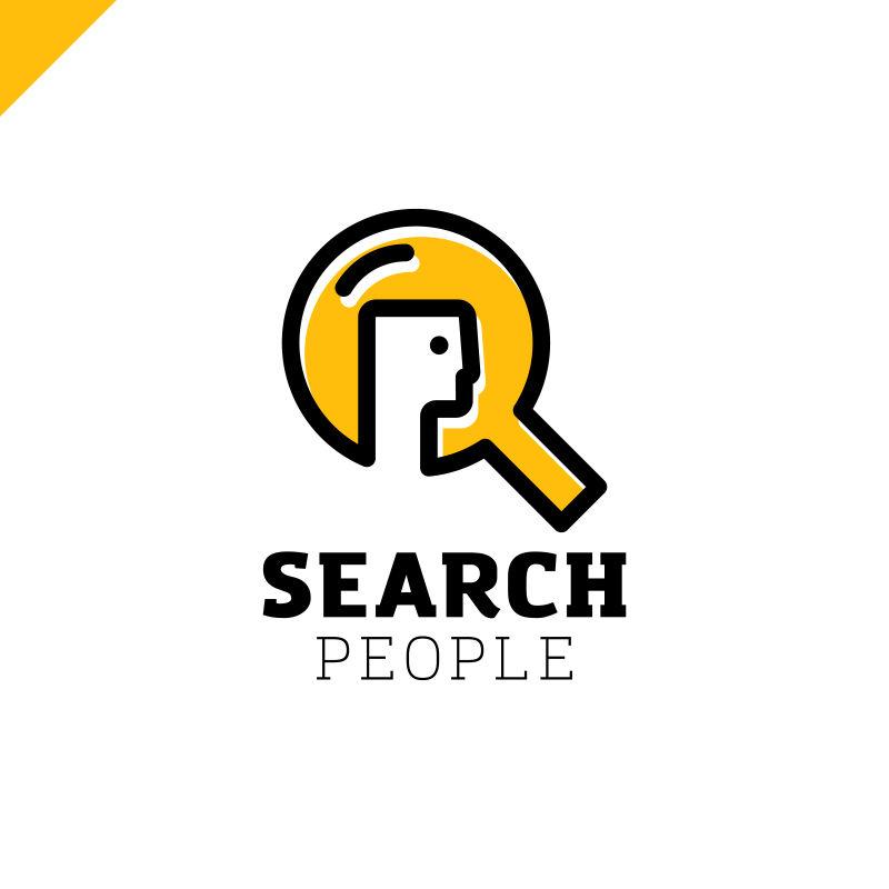 创意矢量搜索概念的标志设计