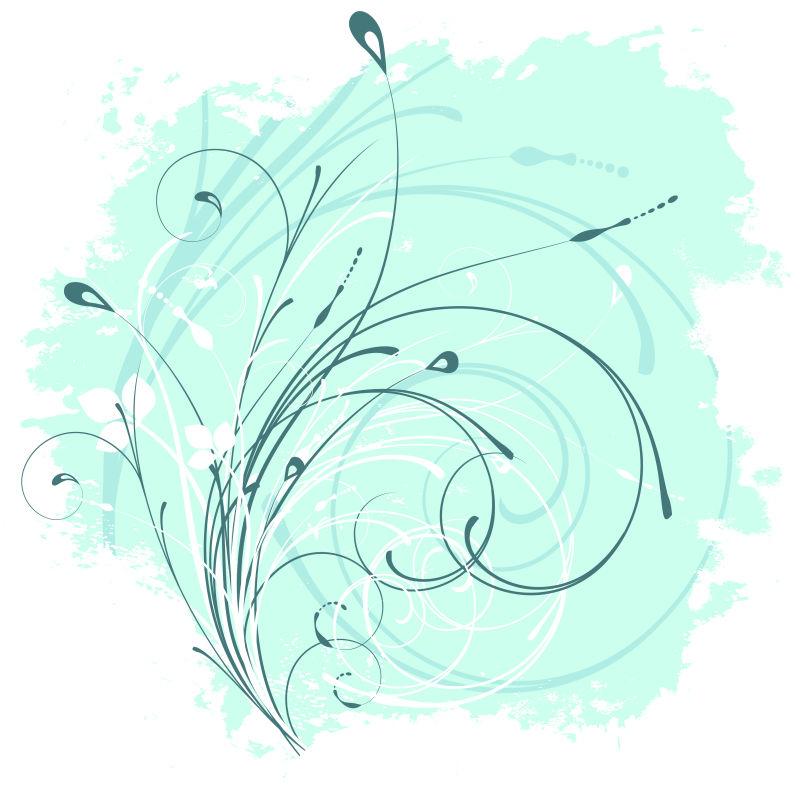 矢量抽象植物装饰设计