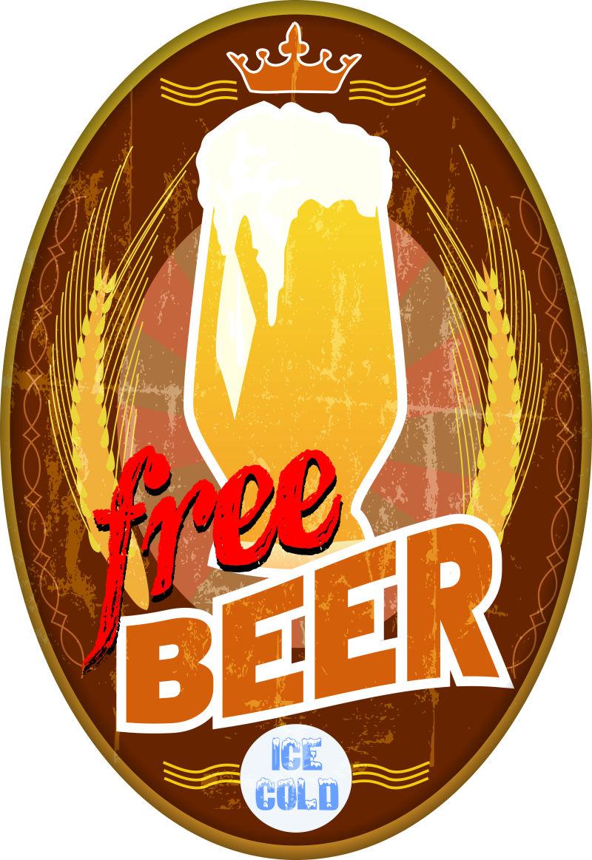 创意啤酒logo矢量设计图