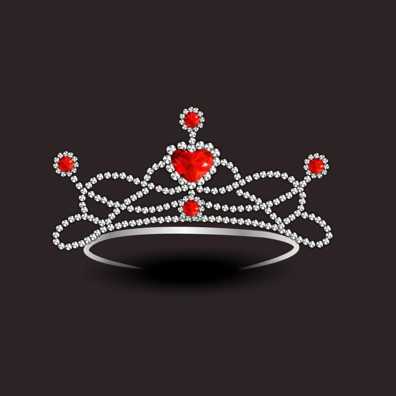 时尚钻石头饰的矢量概念