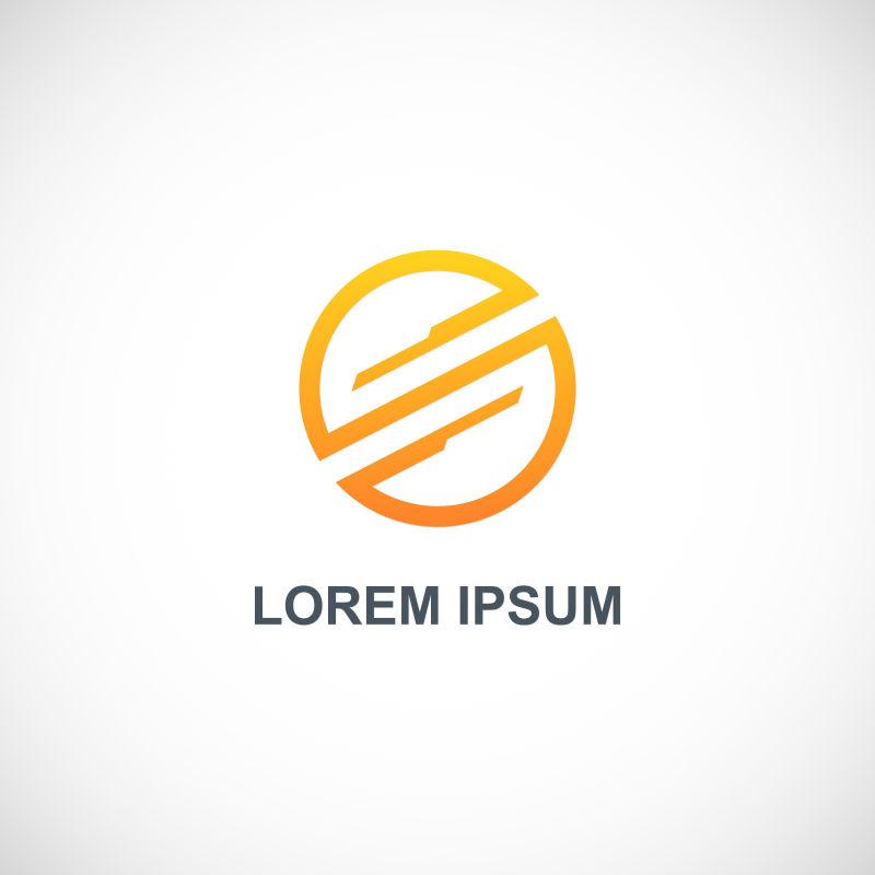 矢量橙色圆技术logo设计