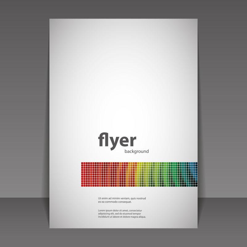 商业报告书封面矢量设计