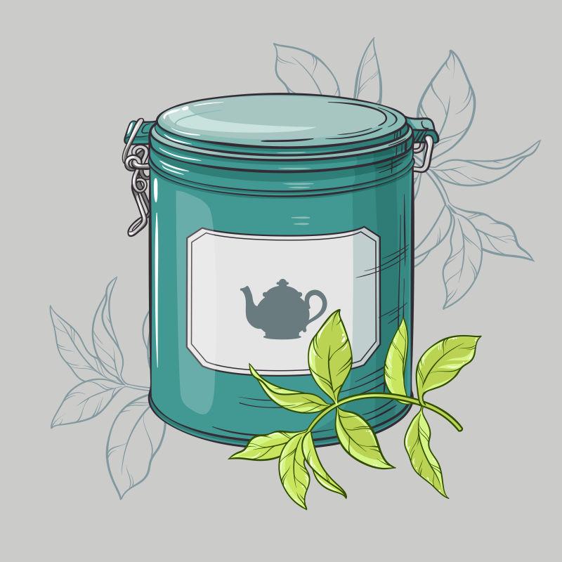 矢量的茶叶包装盒