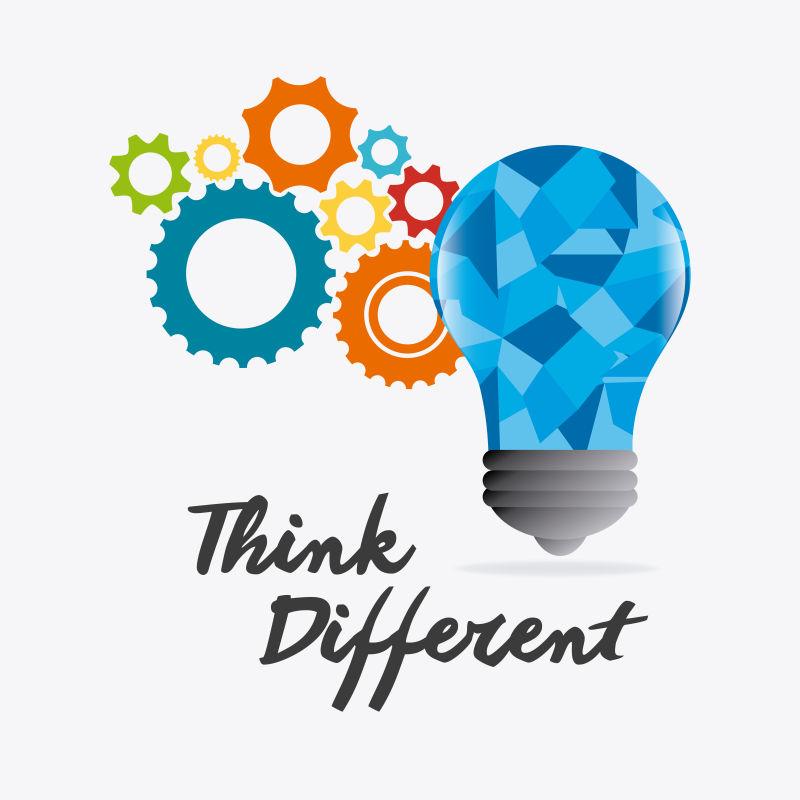 思维概念创意设计矢量图