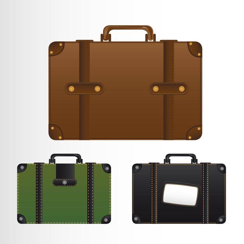 款式不同的行李箱设计矢量