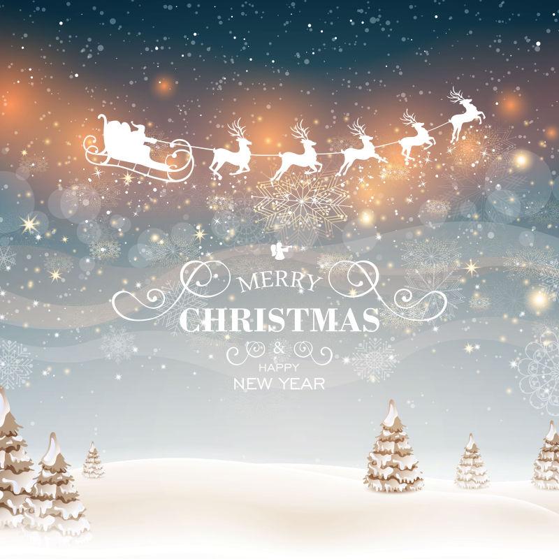 圣诞节圣诞树矢量插图