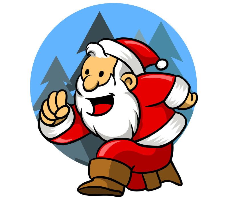 矢量的卡通圣诞老人