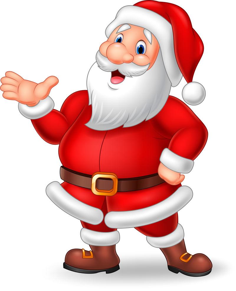 和蔼的圣诞老人矢量插图