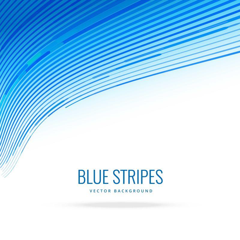矢量抽象蓝色线条设计背景