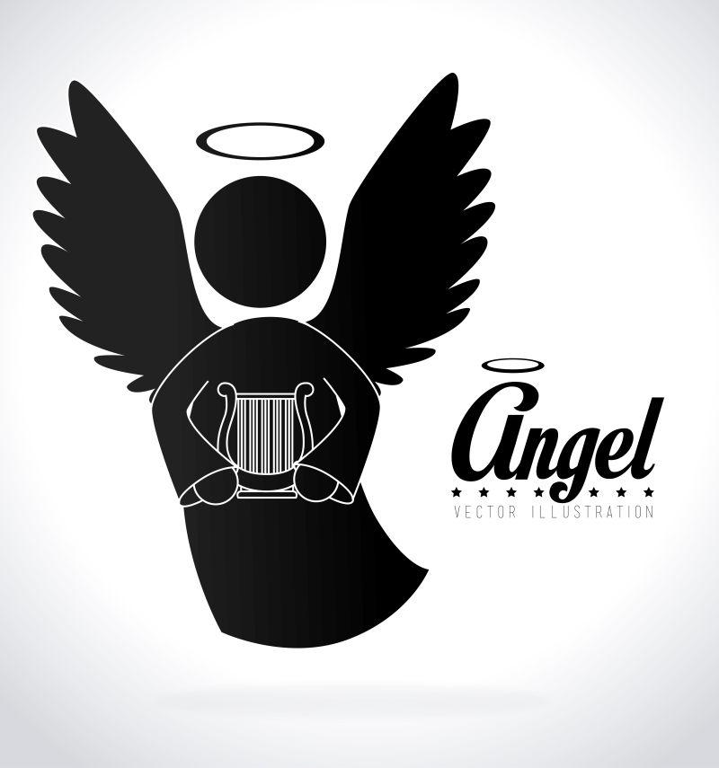 矢量的天使插图