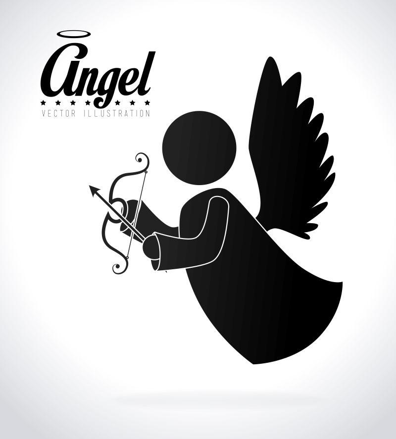 矢量天使插图