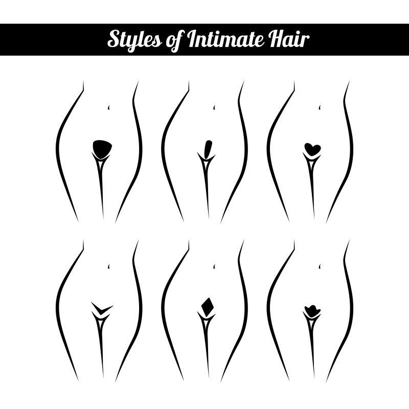 矢量女性比基尼区的脱毛