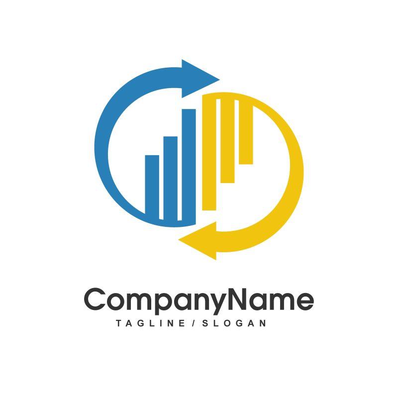 创意箭头矢量logo样式设计