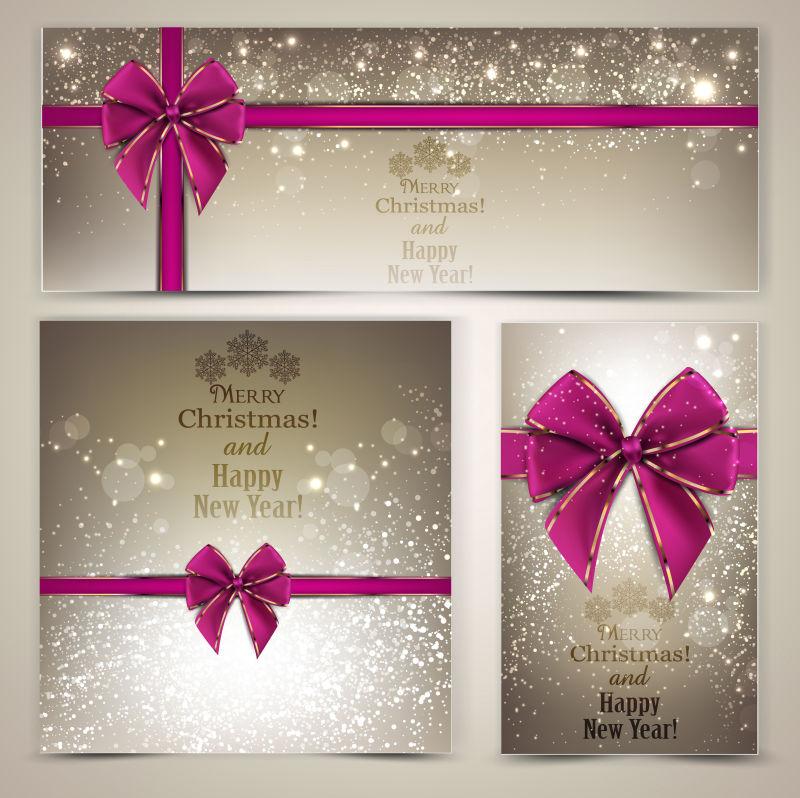 抽象矢量漂亮的圣诞节贺卡