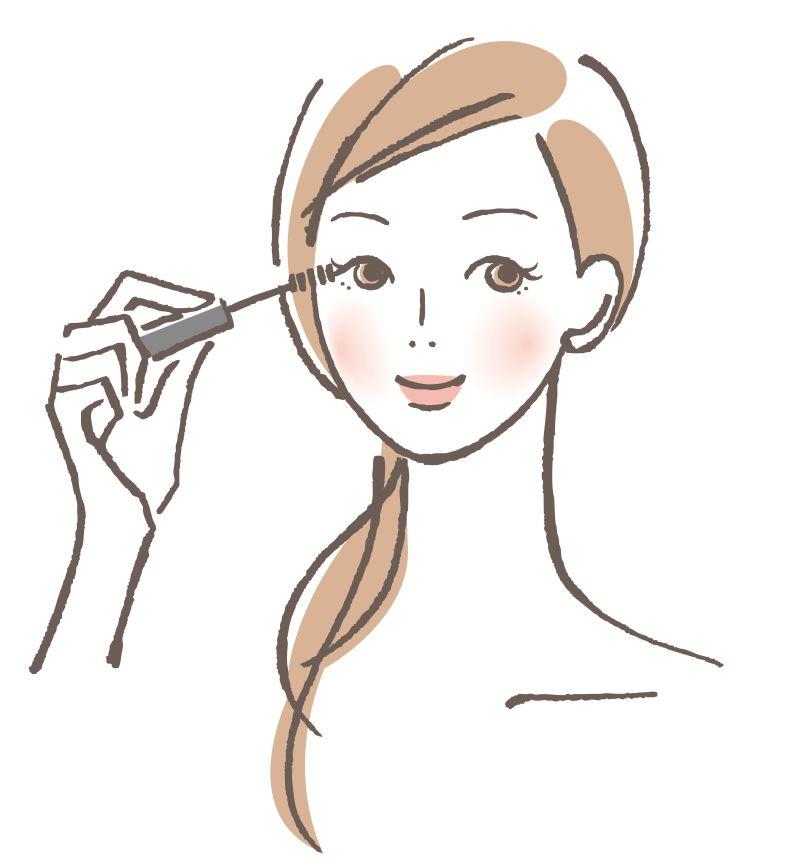 矢量美女化睫毛