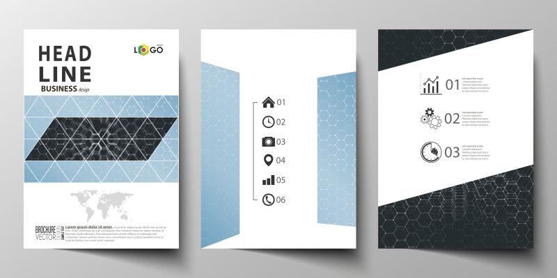 矢量商业宣传杂志封面设计图