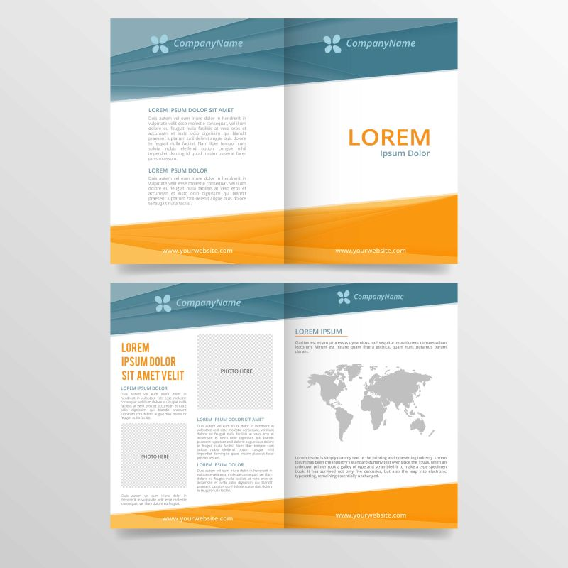 矢量的抽象商业手册