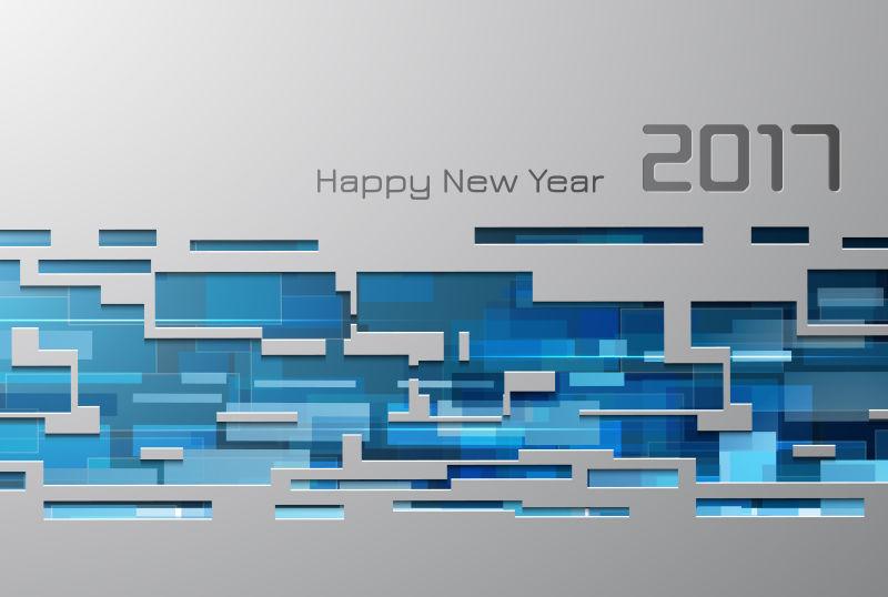 矢量抽象2017几何图案设计背景