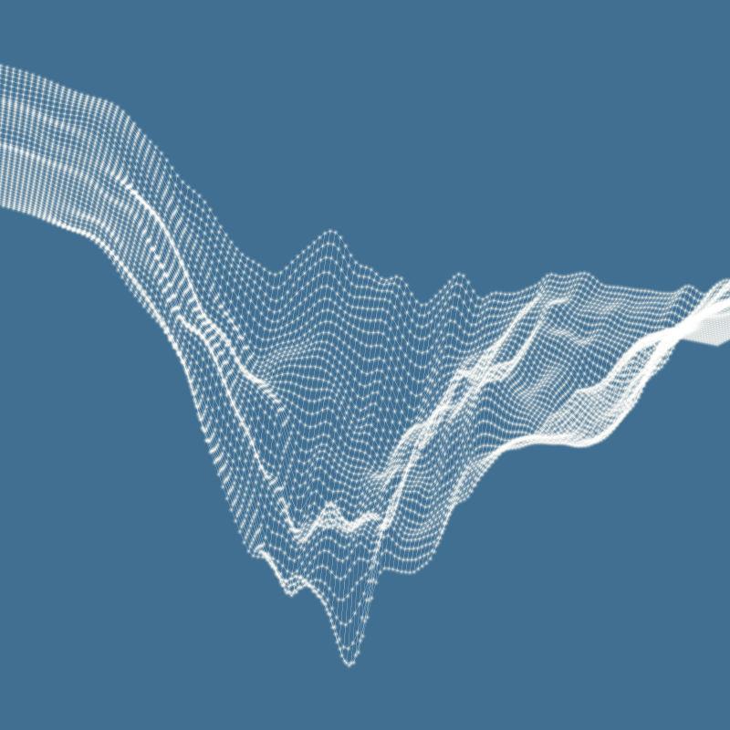 三维山体渲染效果图矢量设计