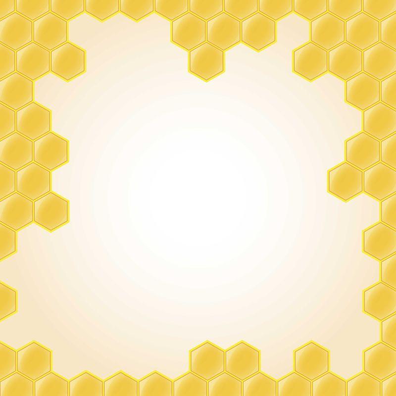 矢量抽象蜂巢元素创意背景
